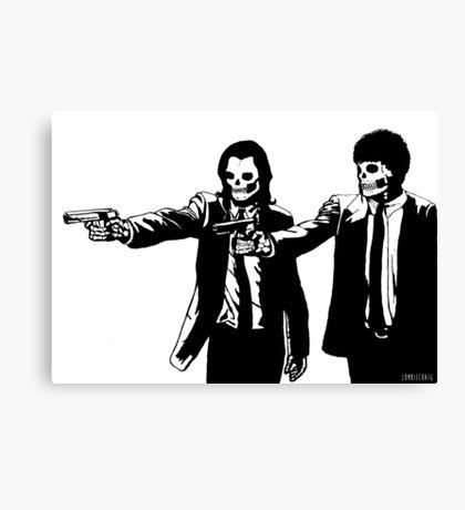 Vincent & Jules Skull Art Canvas Print