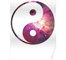 Pink Nebula | Yin and Yang Symbol Poster