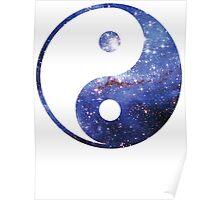 Magellan Nebula | Yin and Yang Symbol Poster