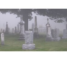 Foggy Graveyard Photographic Print