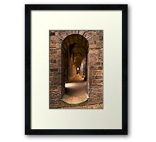 Step into the past Framed Print