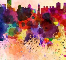 Montreal skyline in watercolor background Sticker