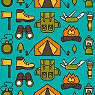 Camping Pattern by DeniseUytiepo