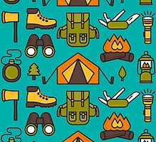 Camping Pattern by DeniseUytiepo