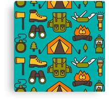Camping Pattern Canvas Print