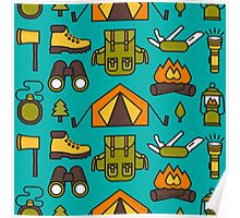 Camping Pattern Poster