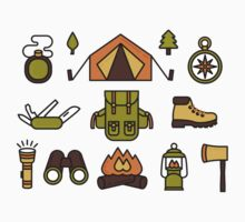 Camping Pattern Kids Clothes
