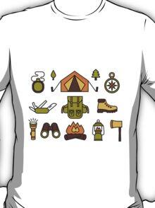 Camping Pattern T-Shirt