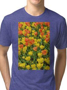 Orange and yellow tulips Tri-blend T-Shirt