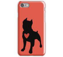 "Pit Bull Terrier ""Loving Dog"", Red Chevron iPhone Case/Skin"