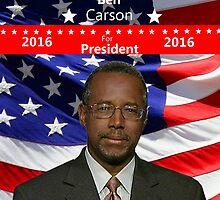 Ben Carson for President by Edmond  Hogge