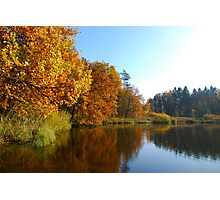 Autumn reflection on a Swiss lake Photographic Print