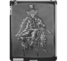 Chalk Mad Hatter with March Hare Wonderland Drawing iPad Case/Skin