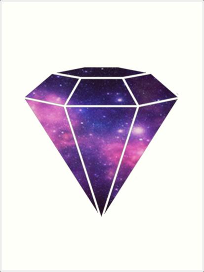 quotgalaxy diamond clear purplequot art prints by jvanessar