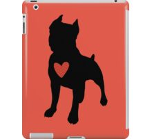 "Pit Bull Terrier ""Loving Dog"", Red Chevron iPad Case/Skin"