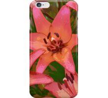 Orange lily flowers iPhone Case/Skin