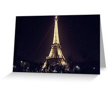 Eiffel Tower & Stars Greeting Card