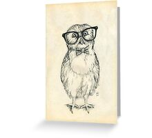 Nerdy Owlet Greeting Card