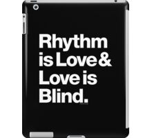 Rhythm is Love Andre Symone Helvetica T-shirt & More iPad Case/Skin