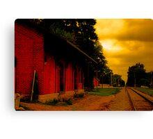 Trains Late Canvas Print