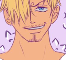POSITIVE! Sanji with a flower crown Sticker