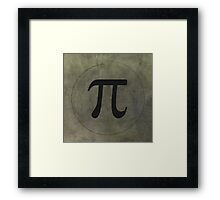 PI Wall Art Framed Print