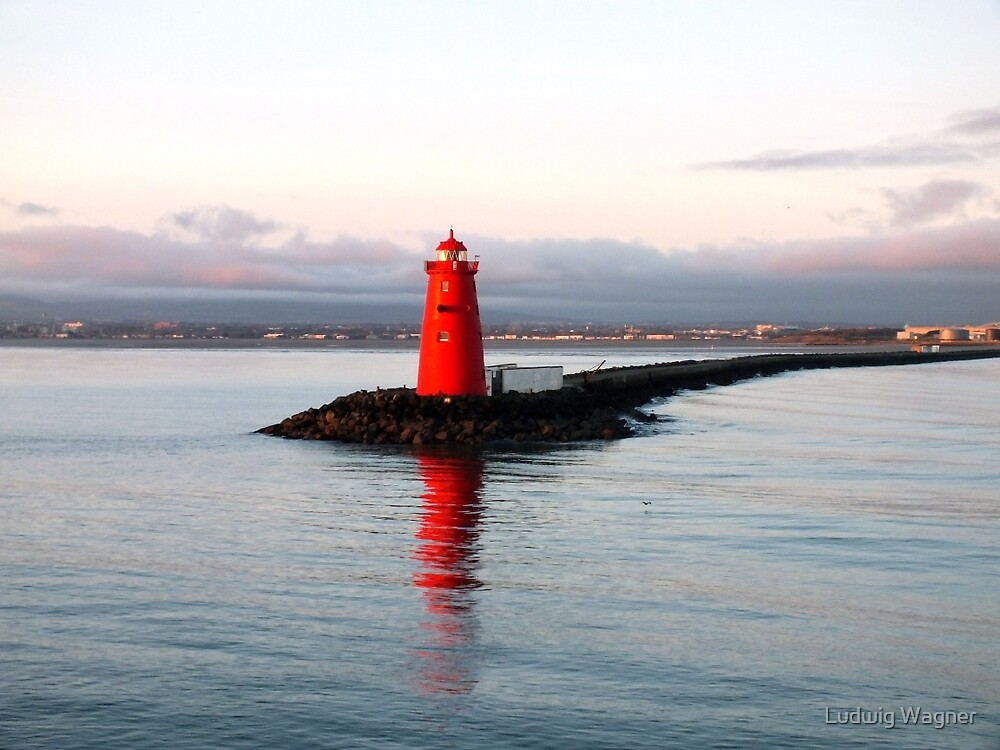 Dublin Harbour Lighthouse by Ludwig Wagner