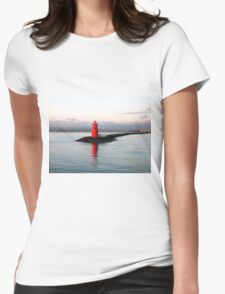Dublin Harbour Lighthouse Womens Fitted T-Shirt