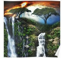 Dreamy Waterfalls Poster