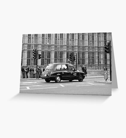 Cab in London Greeting Card