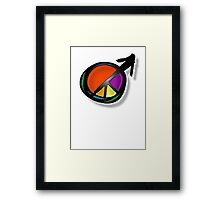 peace male Framed Print