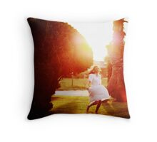 i caught the sun on my way home Throw Pillow