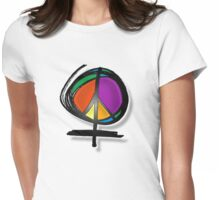 she peace Womens Fitted T-Shirt
