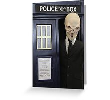 The Silence have the Phone Box Greeting Card