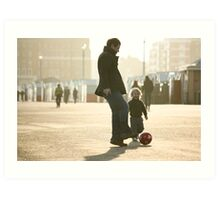 Father-Son Footie Art Print