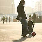 Father-Son Footie by Erika  Szostak