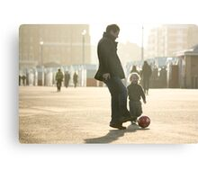 Father-Son Footie Metal Print