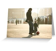 Father-Son Footie Greeting Card