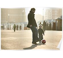Father-Son Footie Poster