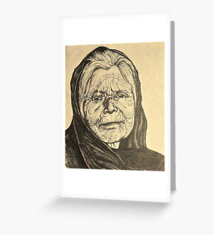 elder woman Greeting Card