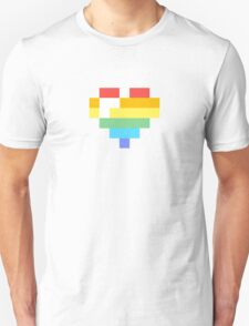 Rainbow Pixel Heart T-Shirt