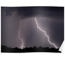 Backyard Lightning Poster