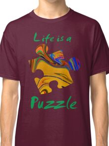Life is a puzzle, green  Classic T-Shirt