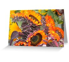 Orange SunFlower Bunch Greeting Card