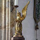 Angel Candle Holder at St Marys Church, Burton Bradstock by lynn carter