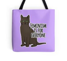 Feminism is For Everyone - Feminist Cat Tote Bag