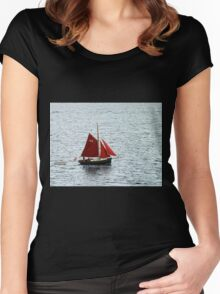 Red Sails in Falmouth Harbour Women's Fitted Scoop T-Shirt