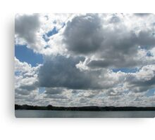 Clouds and Lake Canvas Print