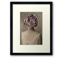 Water Woman, embroidered photo Framed Print