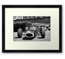 Vintage open wheel racing car #26 Framed Print